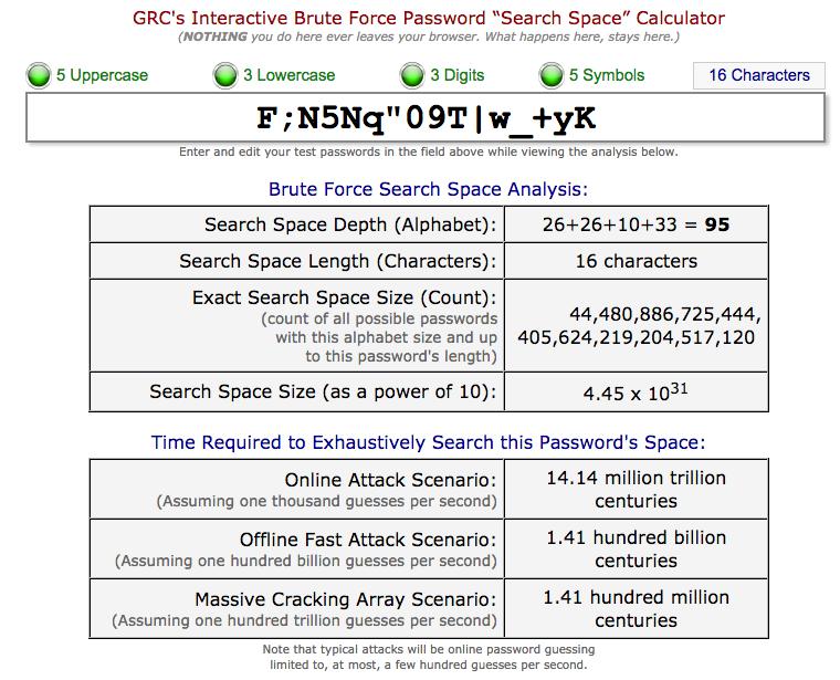 GRC entropy calculator