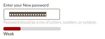 Geico password field