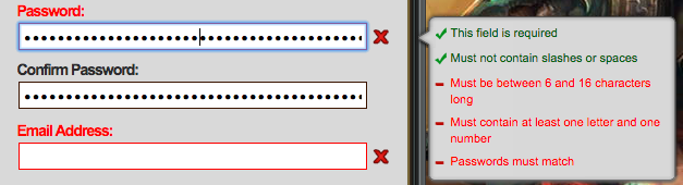 LOL password field