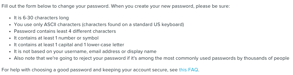 Livejournal password field