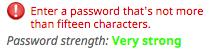 H&R Block: Maximum length of 15 characters